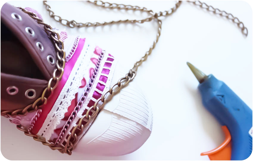 DIY customise tes tennis en toile