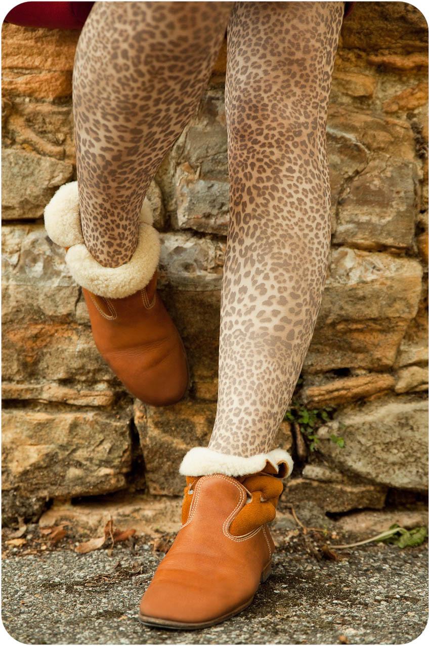 collant imprimé leopard