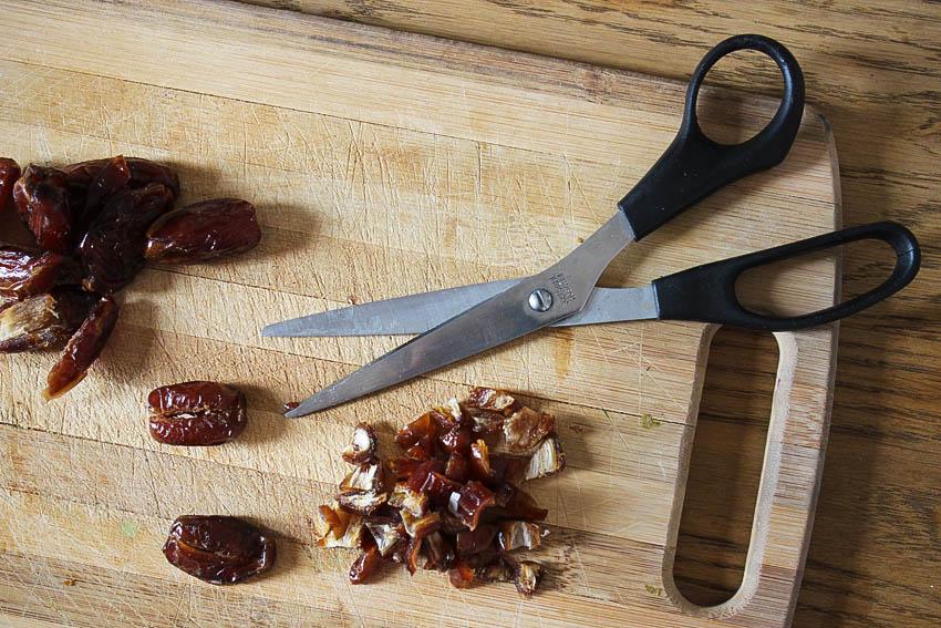 barre de céréales avec dates