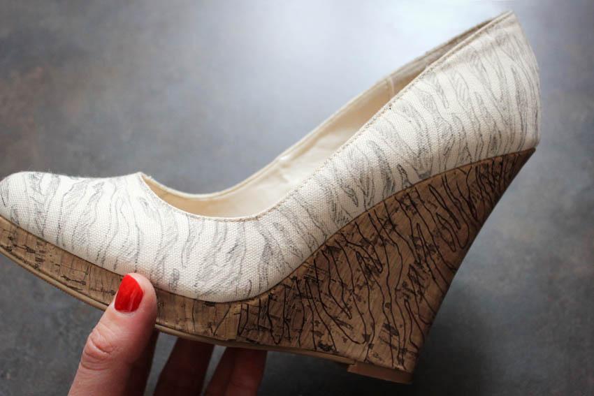 DIY chaussures zebre louboutin et nabila