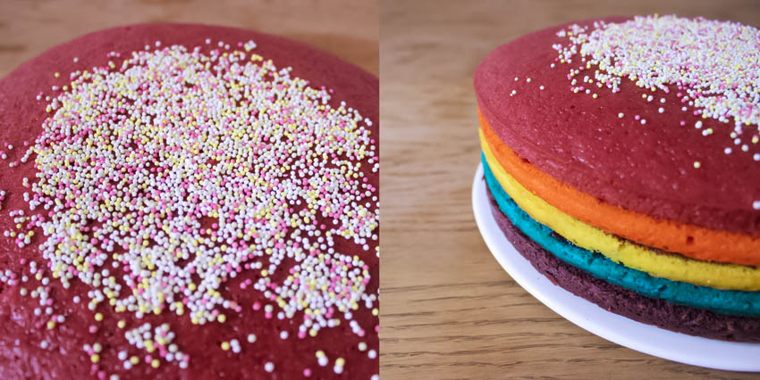 DIY gateau Rainbow