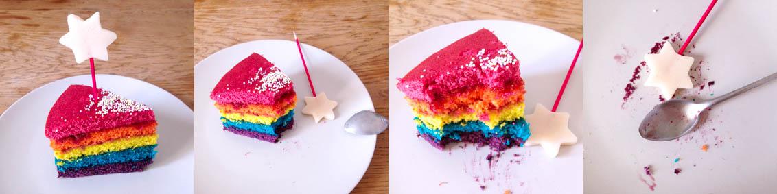 Yumi rainbow cake