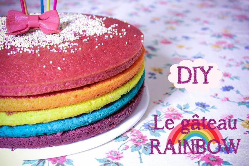le gteau rainbow - Colorant Gateau