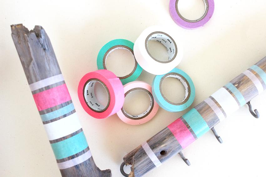 DIY porte bijoux masking-tape ecolo