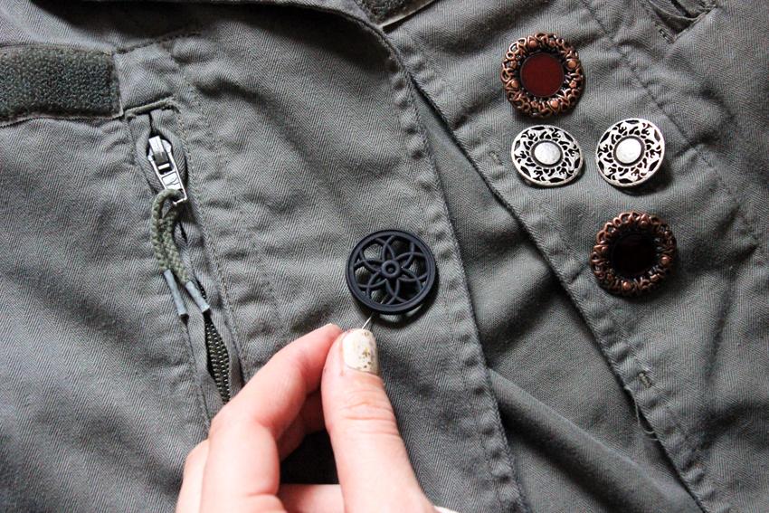 DIY bouton vintage