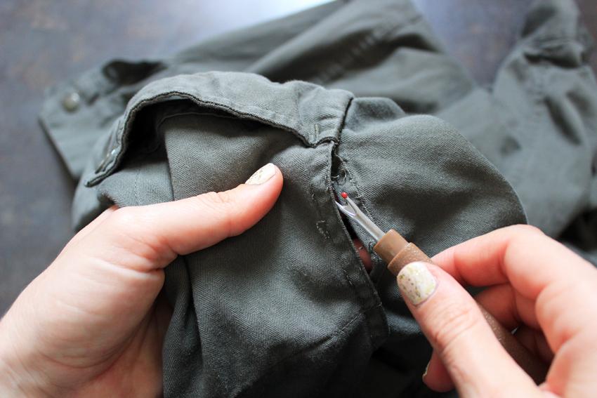 DIY découdre manches vestes