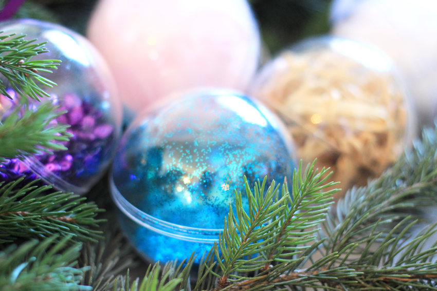DIY boules de noël merry christmas