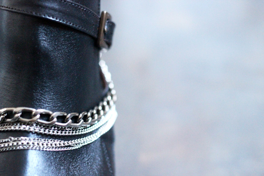 إجعلي من حذائك القديم حذاءا عصريا راقيا... DIY-chaussures-chaines-artlex