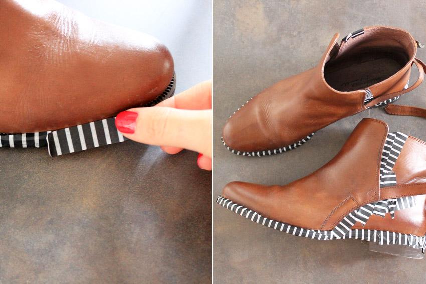 blog DIY artlex chaussures chaines-paillettes
