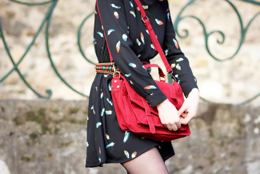sacoche ecolière rouge
