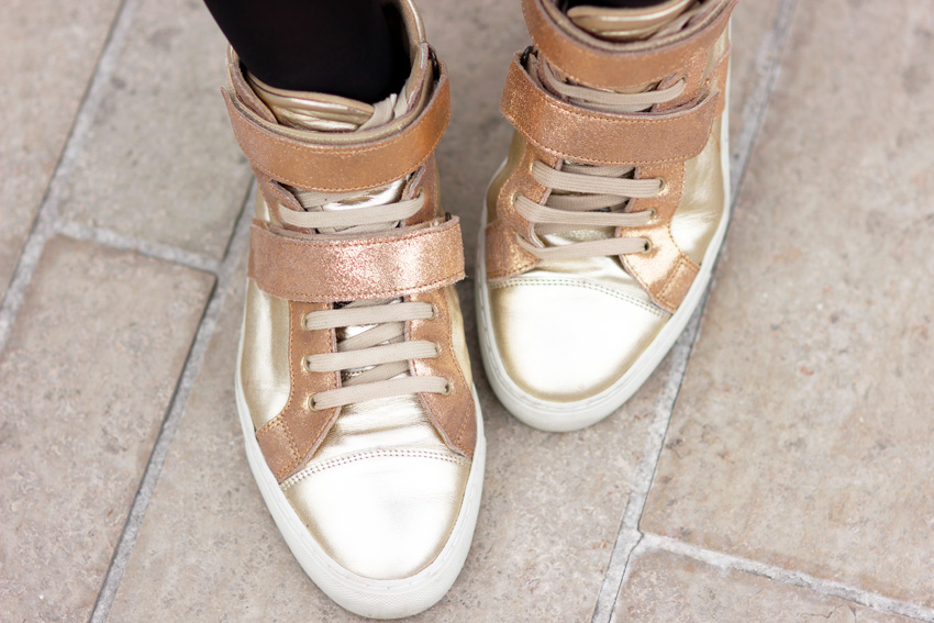 sneakers gold Bensimon