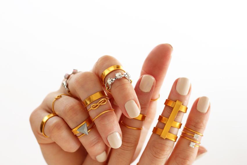 DIY midi rings