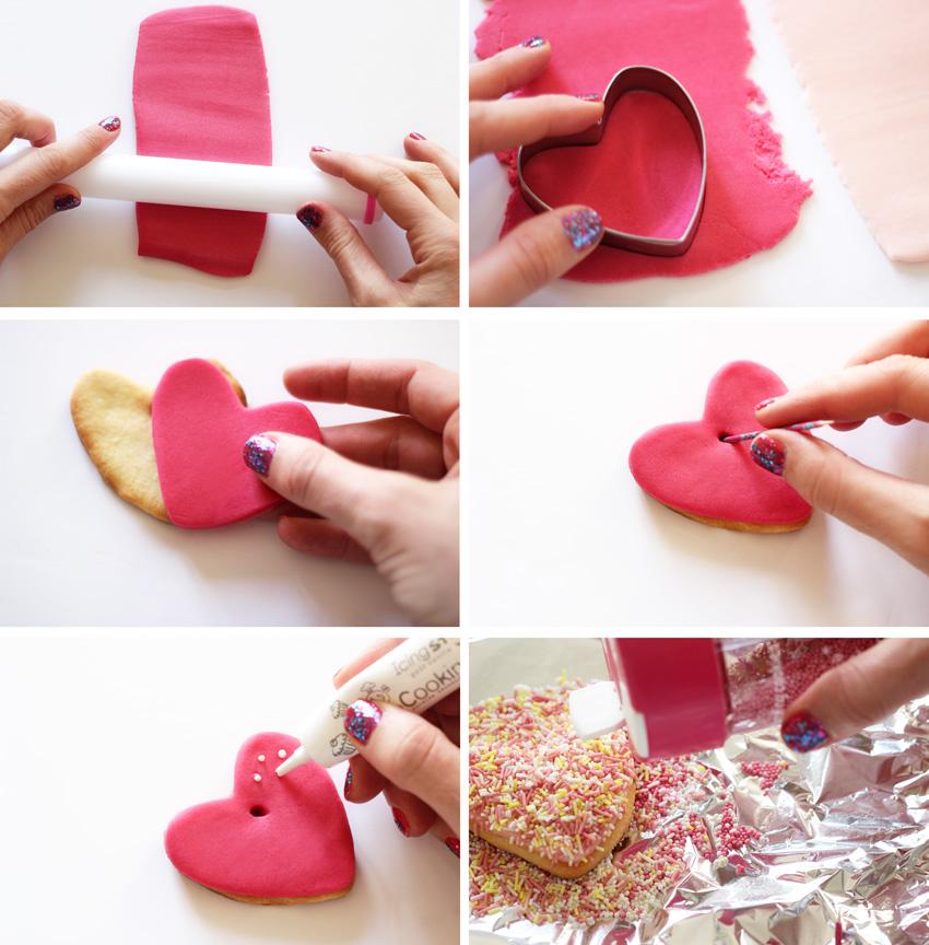 DIY saint valentin sablé coeur