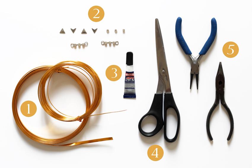 matériel DIY bague de phalange