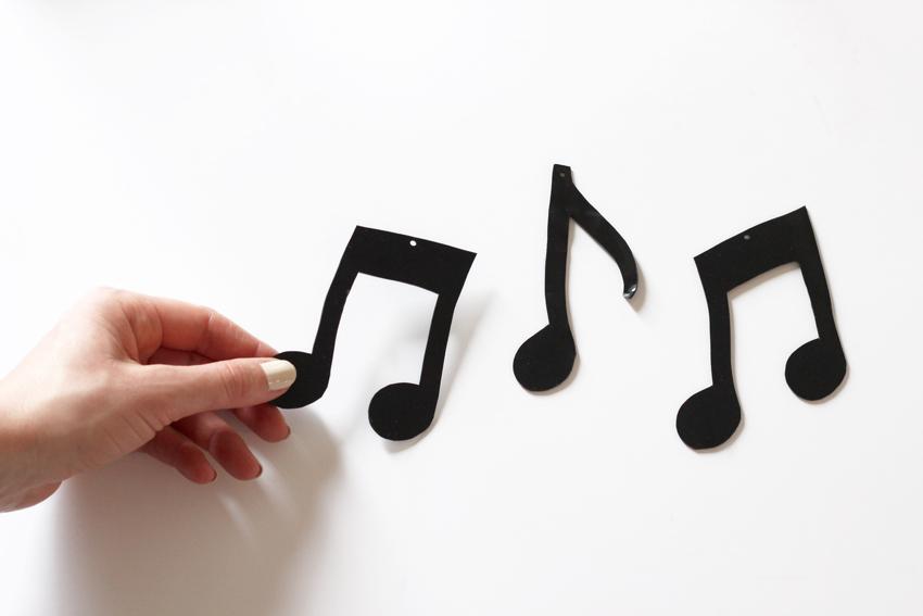 note de musique en plastique