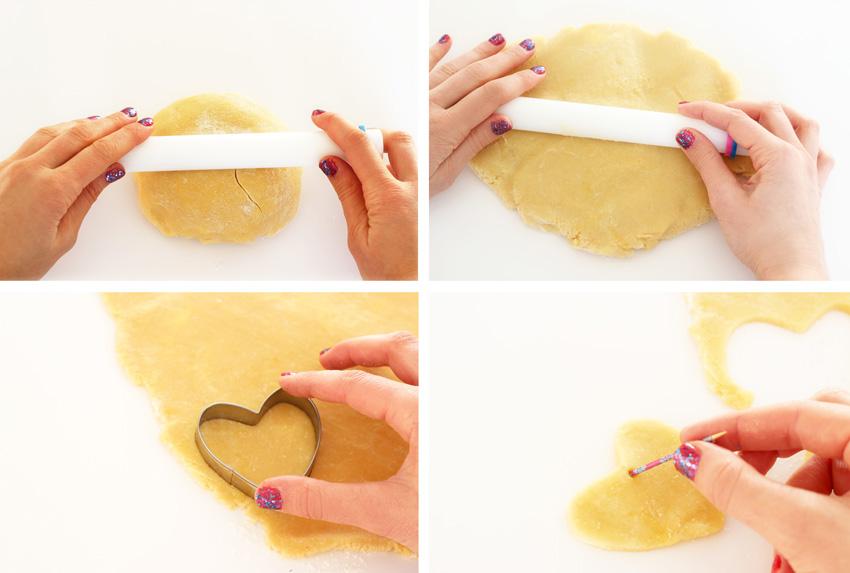 recette faire des sablés coeur