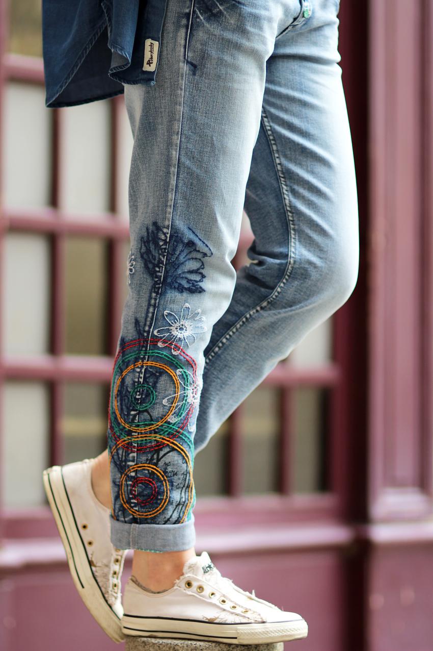 Jeans Desigual broderies