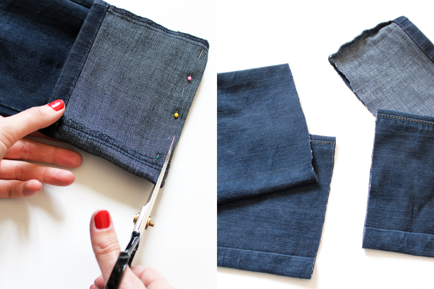Diy jean blog mode lyon diy artlex - Comment couper un pantalon en short ...