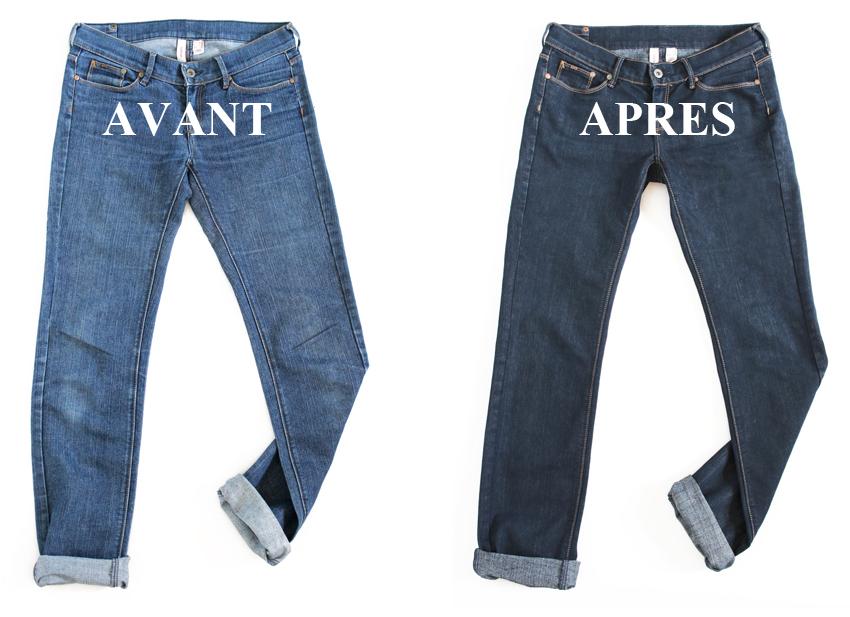 teindre un jeans