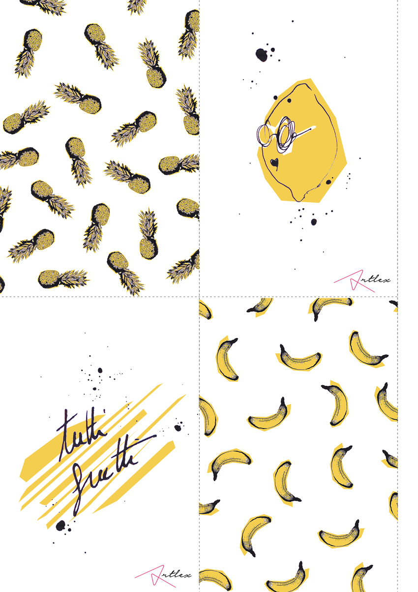 Fruits drawing by Artlex Blog DIY 2