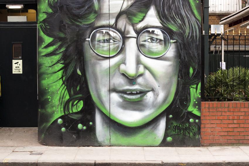 John Lennon Graffiti street Camden town