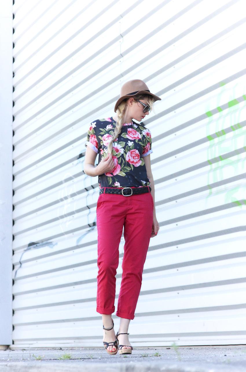 tee-shirt fleur Artlex blog mode