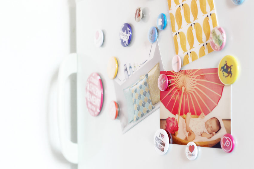badges magnets DIY