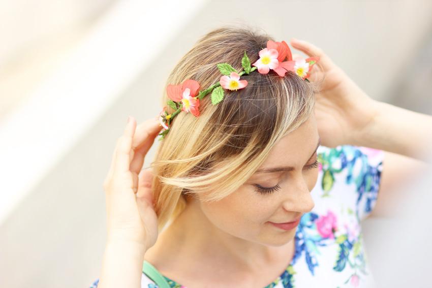 couronne de fleurs asos