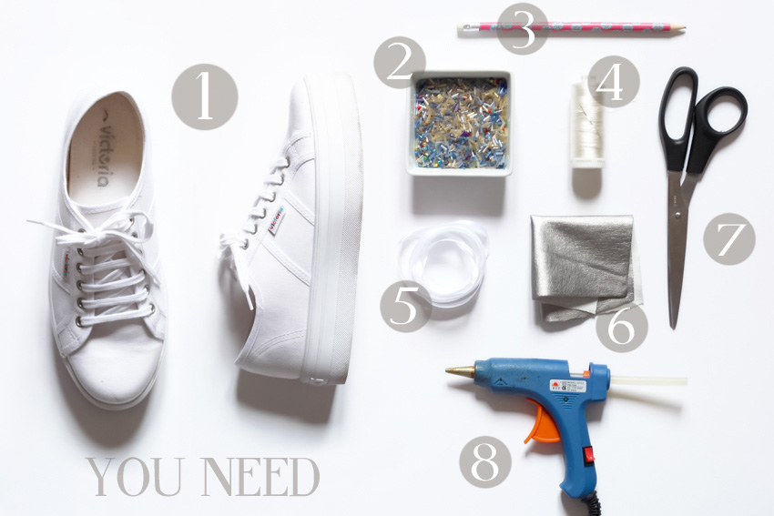customiser des tennis blanches DIY