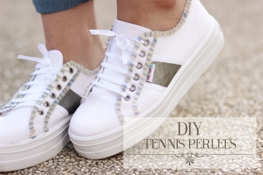 sneakers beaded DIY blog Artlex