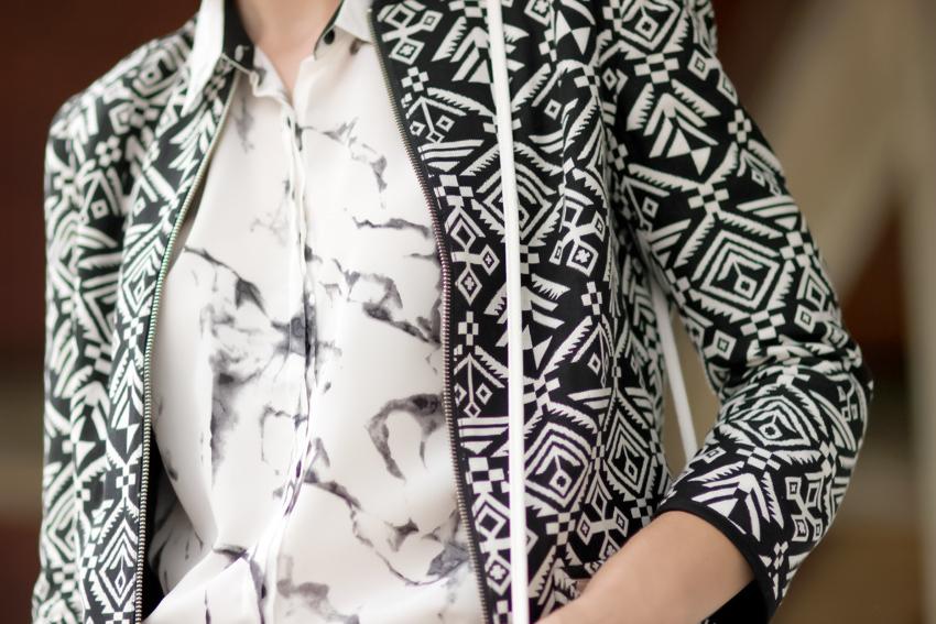 chemise imprimé marbre