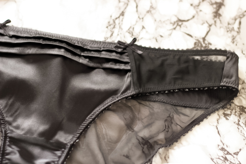 culotte satin noir