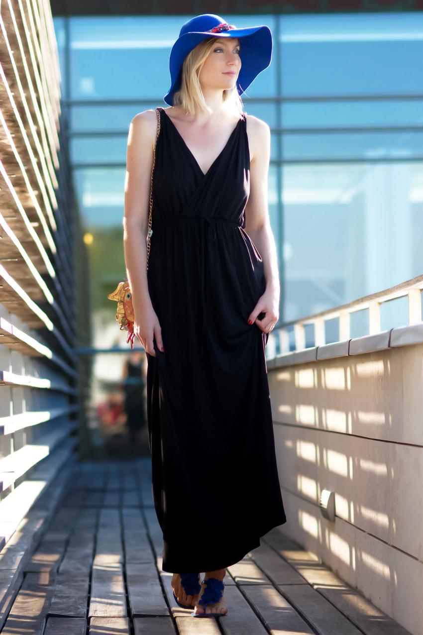 longue robe noire maxi dress