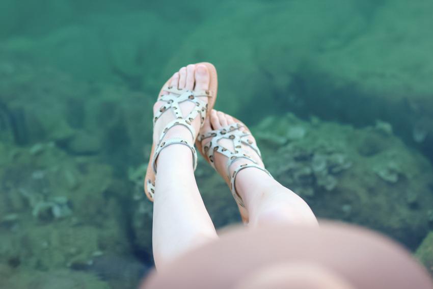 sandales léopart Elisabeth Stuart