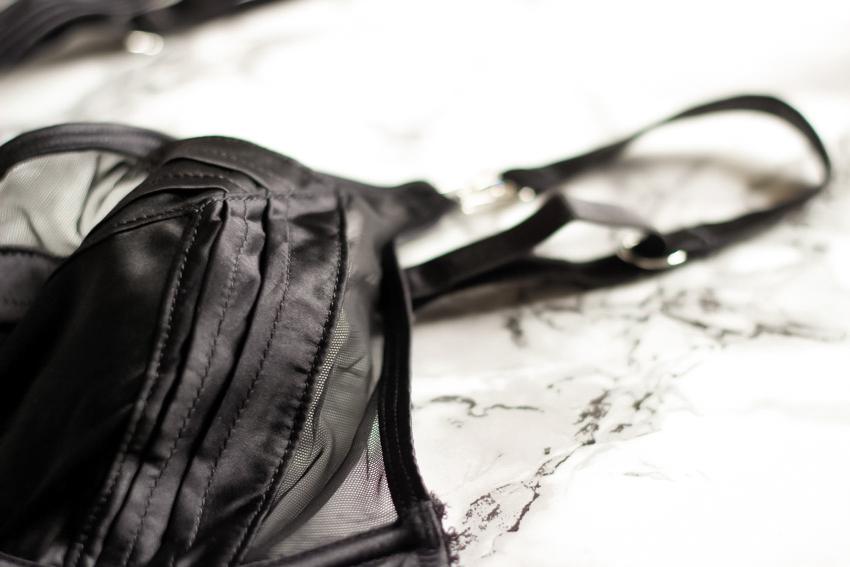 soutien-gorge satin noir