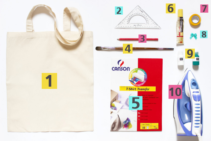 1-Matériel DIY tote bag