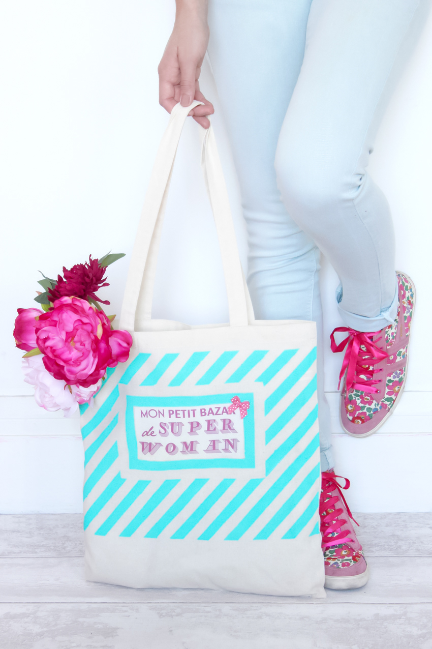 Artlex Blog DIY tote bag rayures