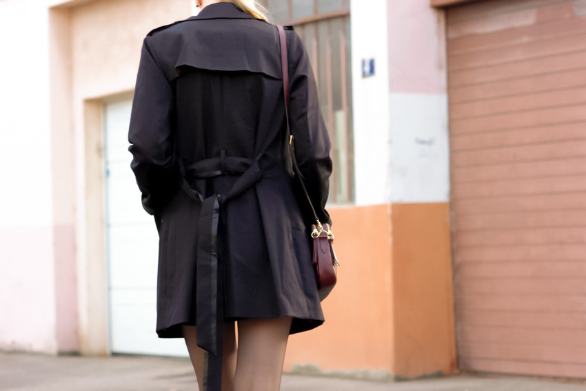 black trench coat noir I.code