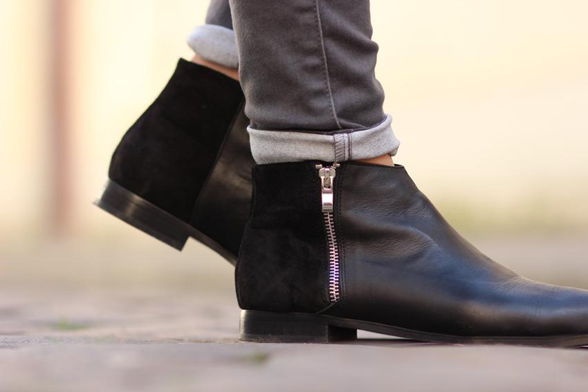bottines noires plates galeries lafayettes