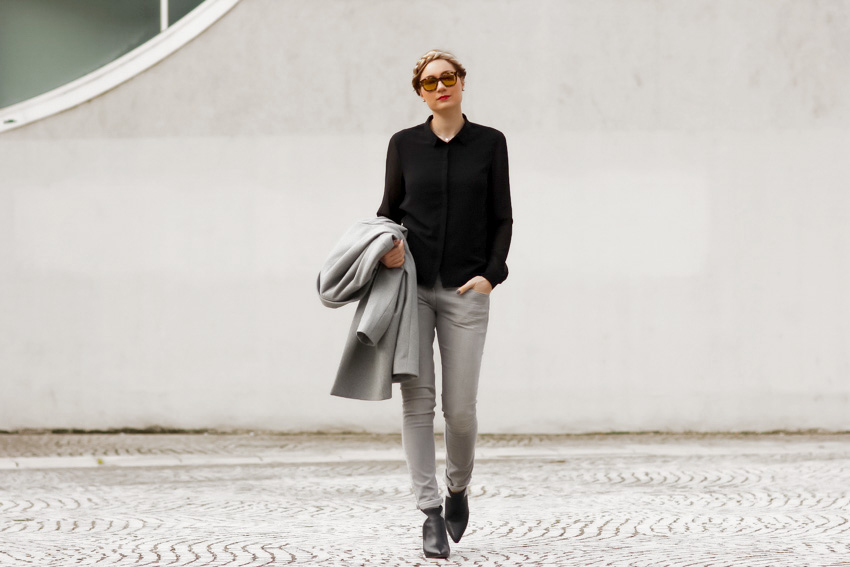 black and grey street style noir et gris
