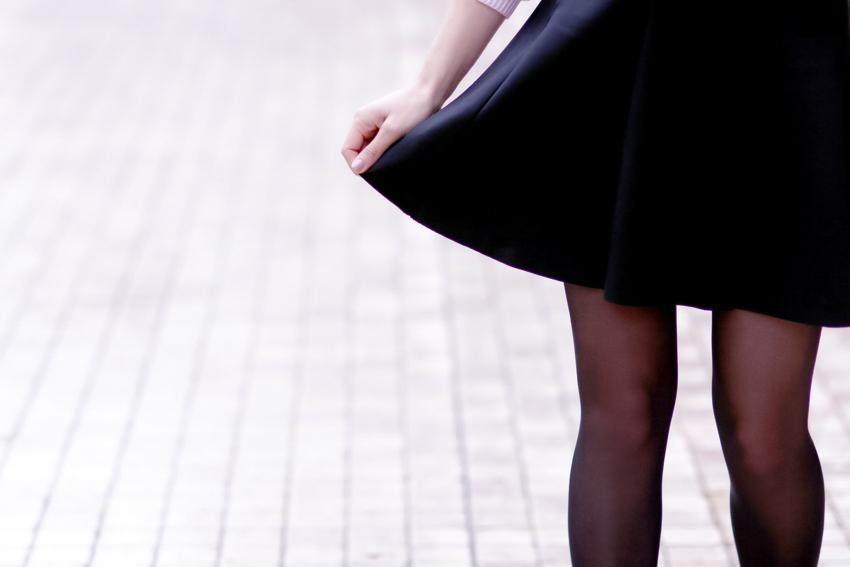 jupe patineuse noire vero moda black skirt