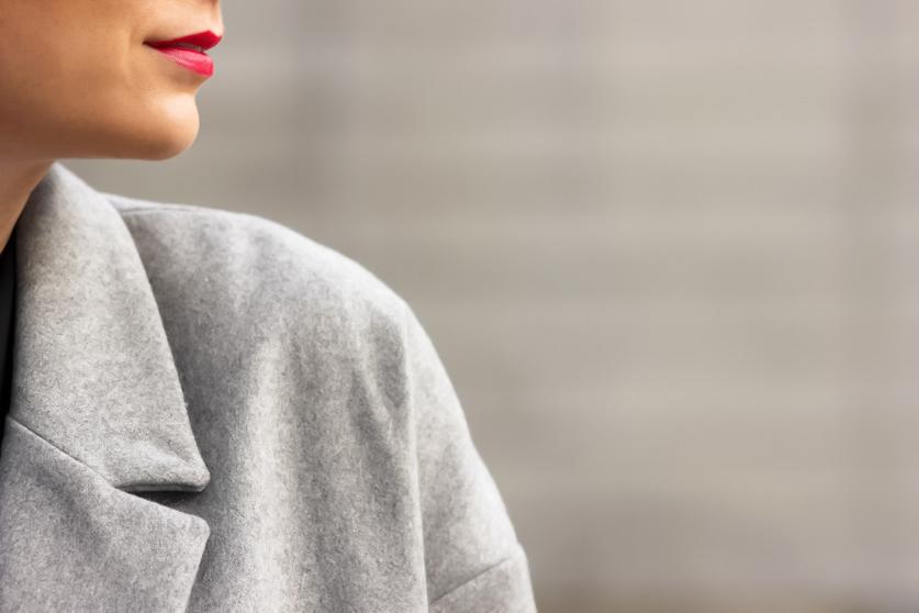 manteau en laine gris hiver 2015