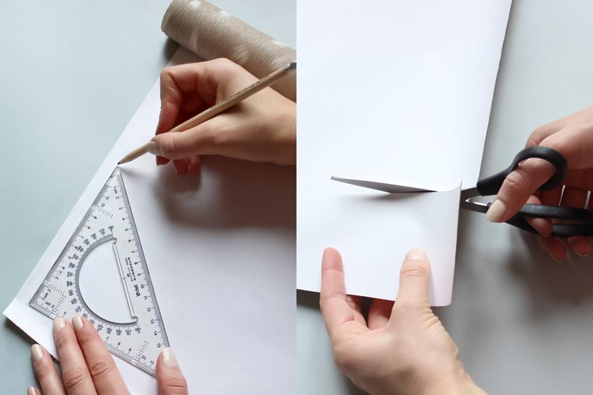 mesurer et couper de la tapisserie