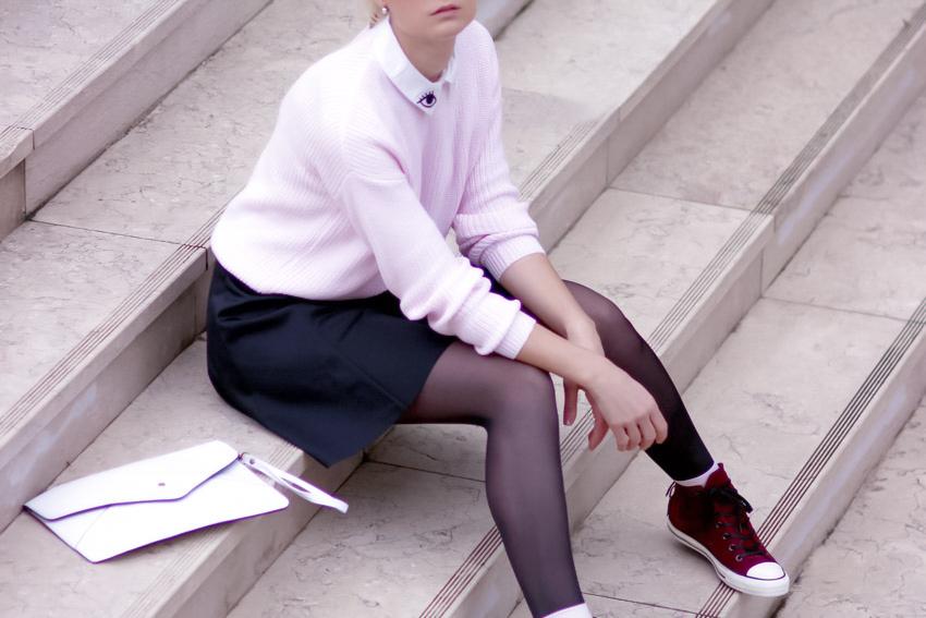 pink ans black street style rose et noir