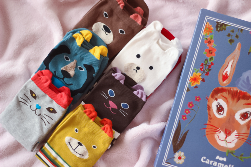 cat socks chaussettes chats kawaii