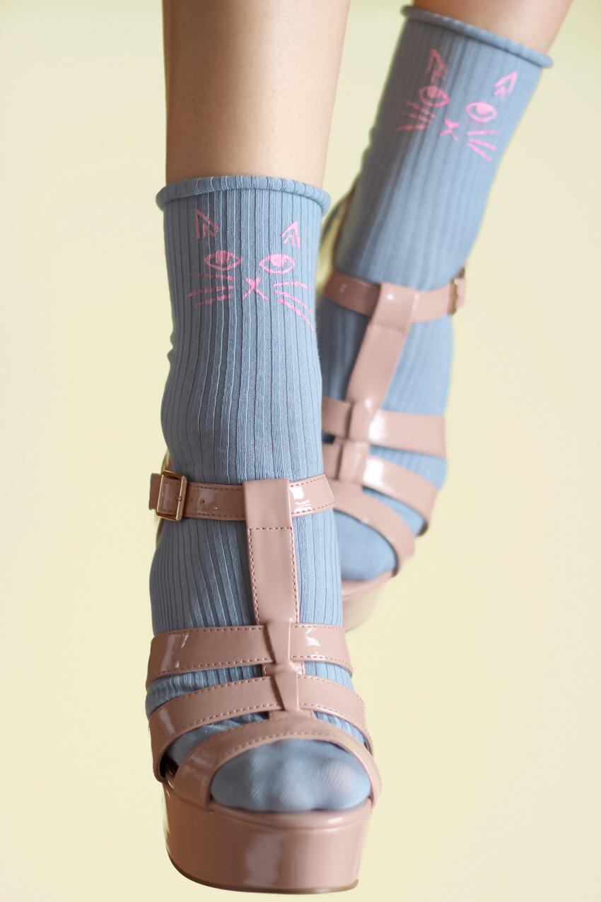 Blog DIY chaussettes tête de chat Artlex