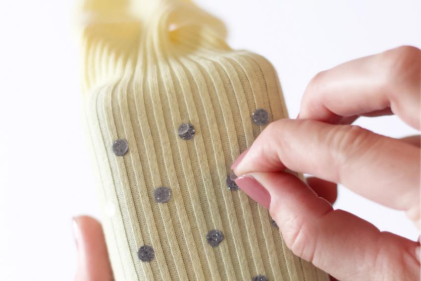 DIY chaussettes à pois