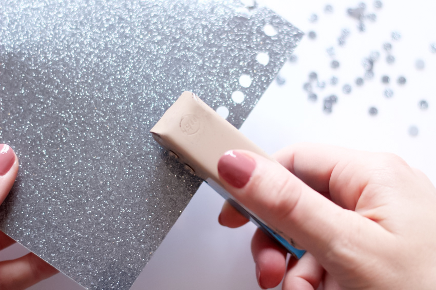 DIY feuille thermocollant paillettes