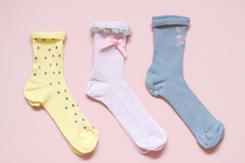 chaussettes customisées blog mode DIY Lyon Artlex