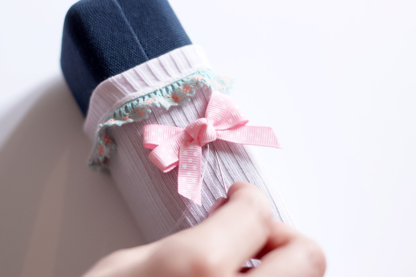 customiser ses chaussettes kawaii